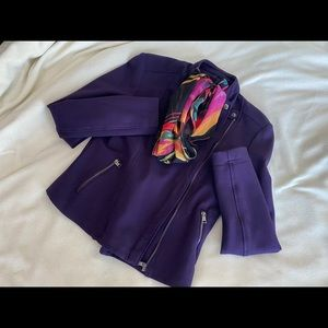 Banana Republic Purple Zip Jacket Size PXS